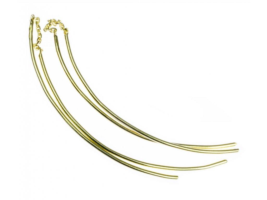 Zlaté náušnice A456