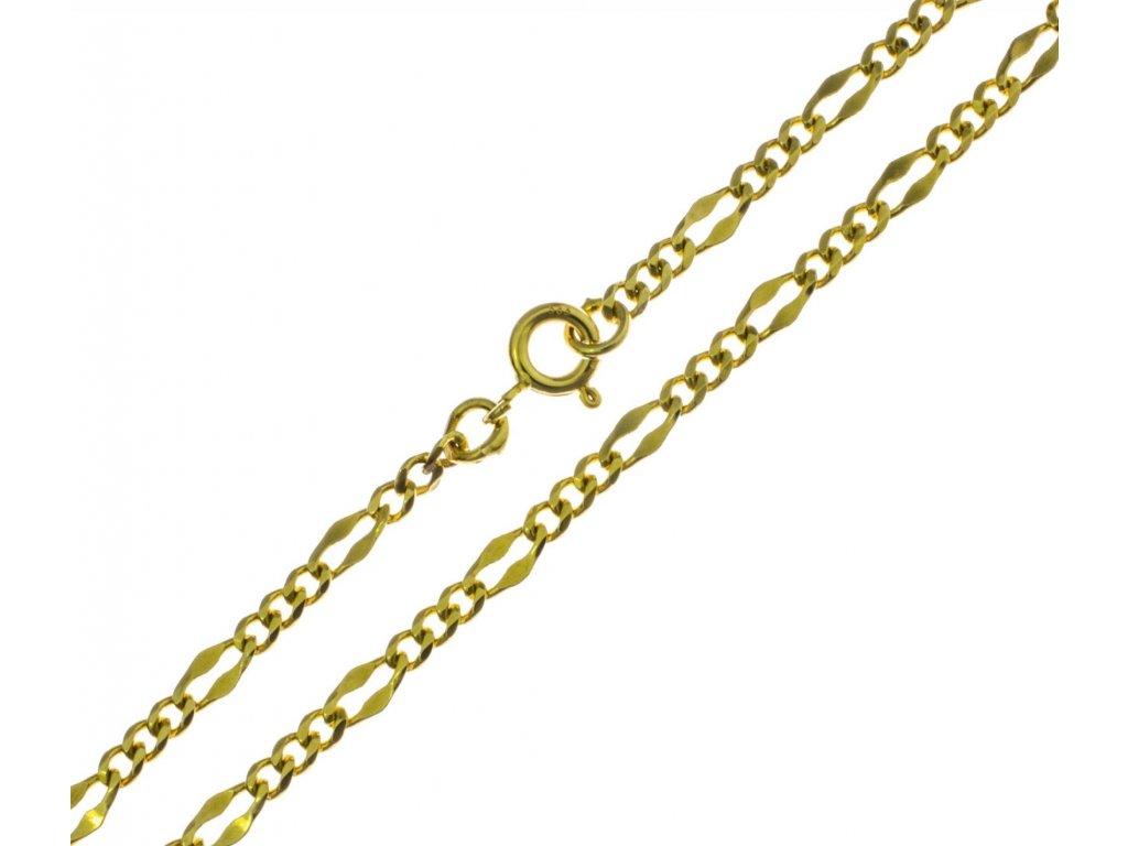 Zlatý náramek D318
