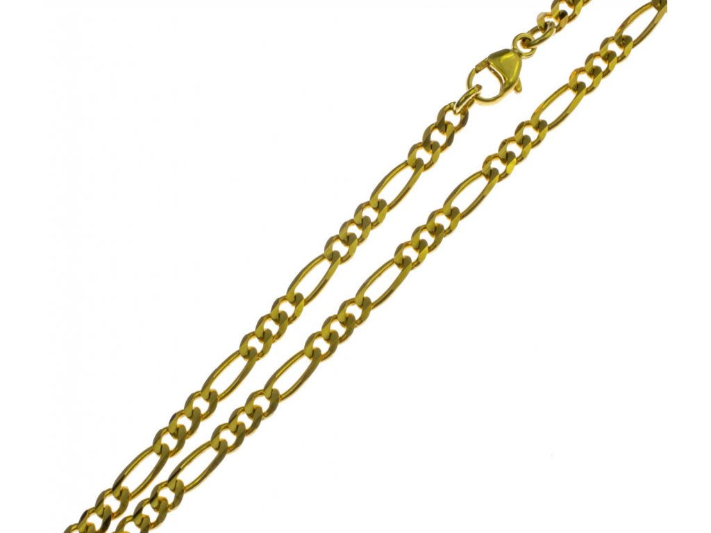 Zlatý náramek figaro C078