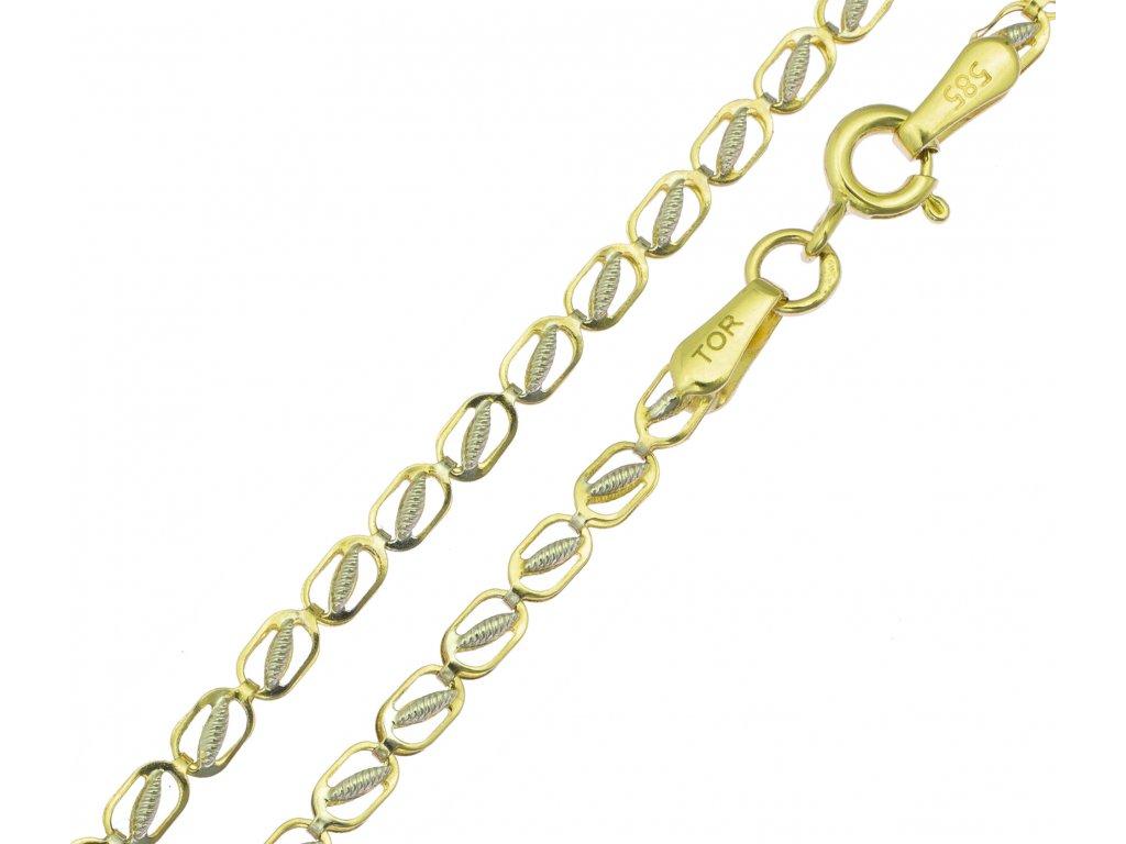 Řetízek ze žlutého zlata K090