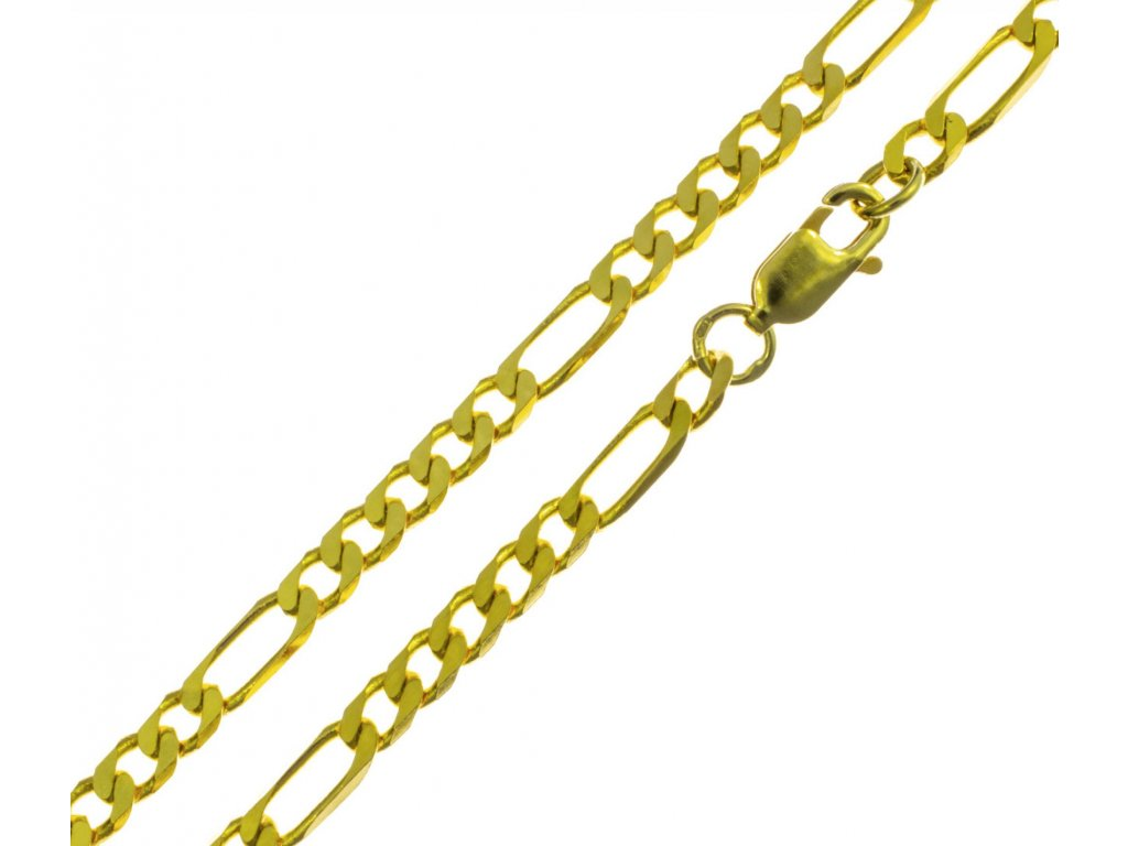 Zlatý řetízek  FIGARO D854