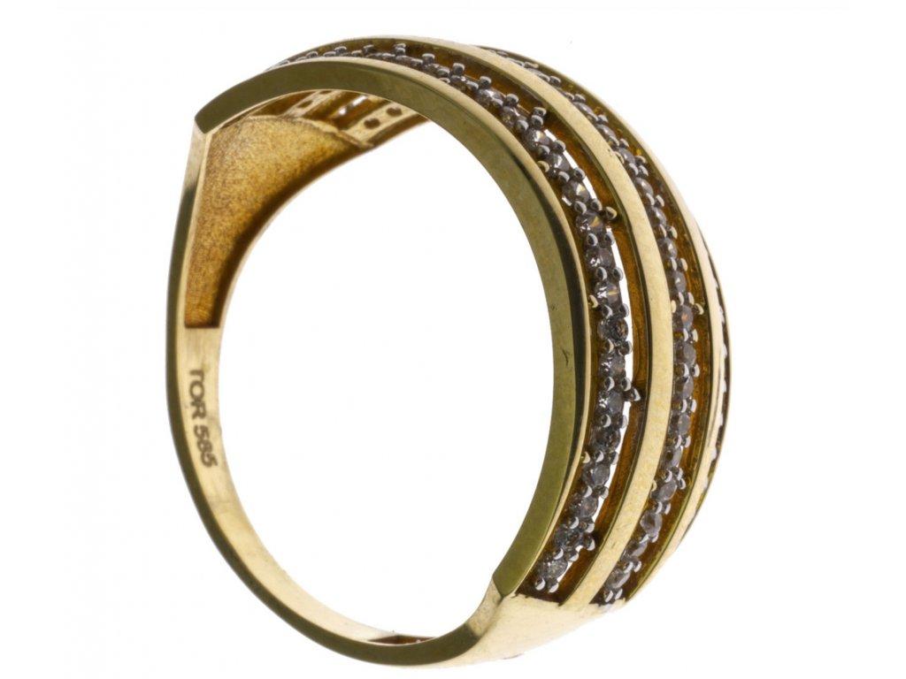 Prsten ze žlutého zlata G562