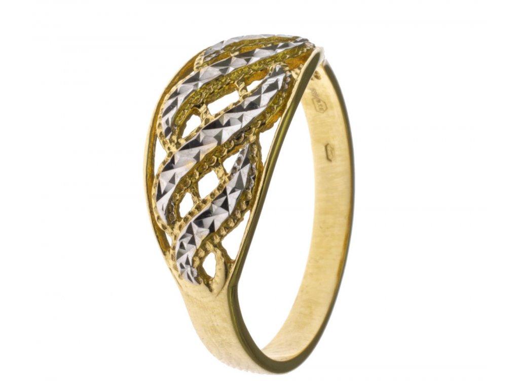 Prsten ze žlutého zlata G747