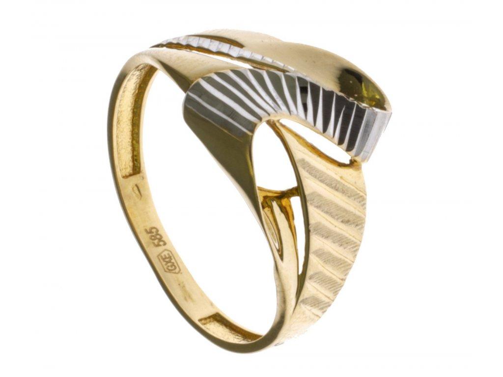Prsten ze žlutého zlata G678