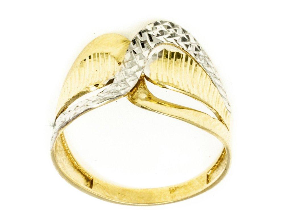 Prsten ze žlutého zlata G745