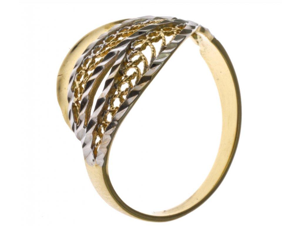 Prsten ze žlutého zlata G716