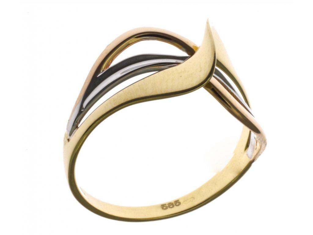 Prsten ze žlutého zlata G709