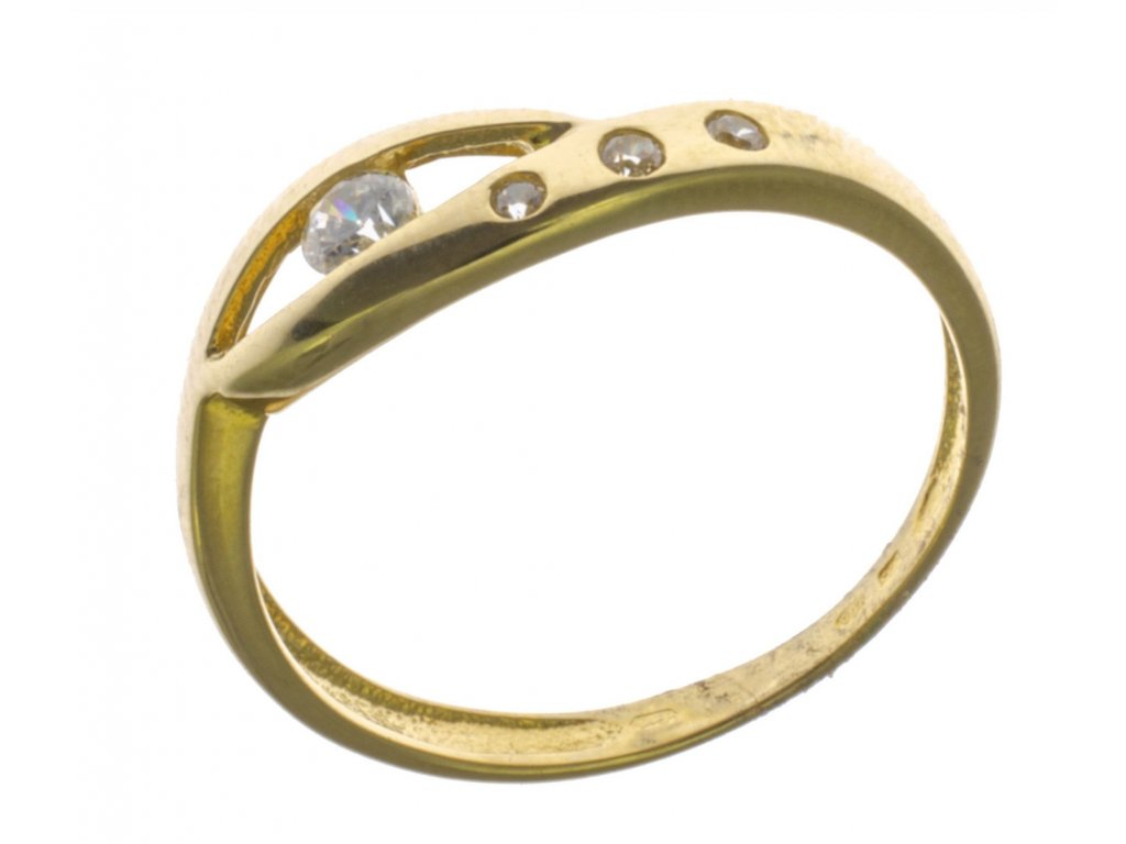 Prsten ze žlutého zlata G636
