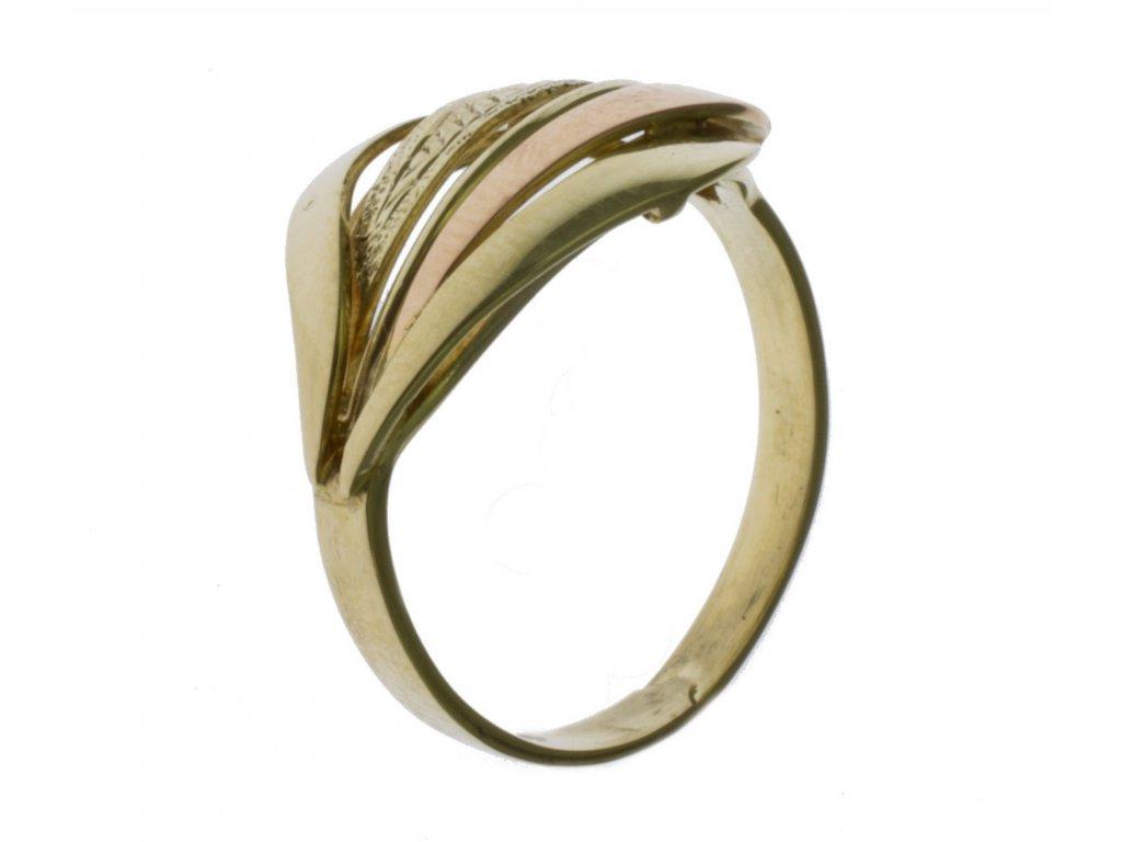 Prsten ze žlutého zlata G347