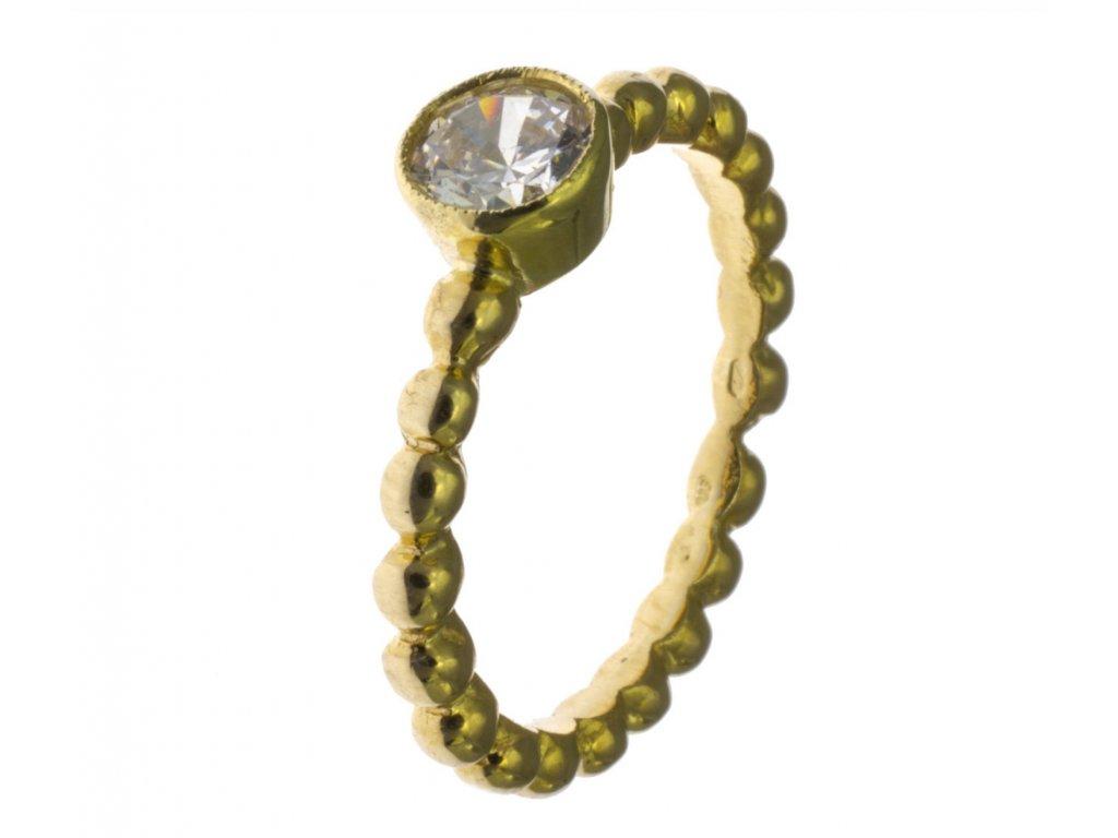 Prsten ze žlutého zlata G734