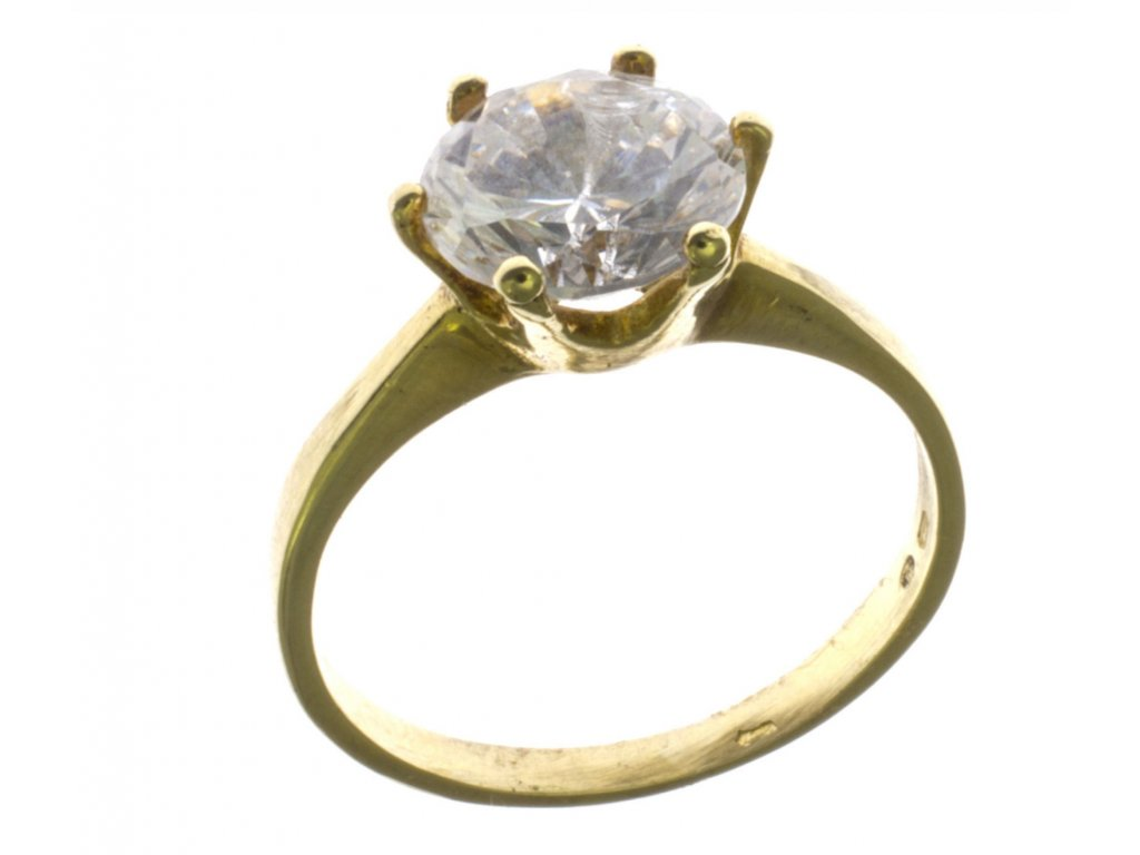 Prsten ze žlutého zlata G085