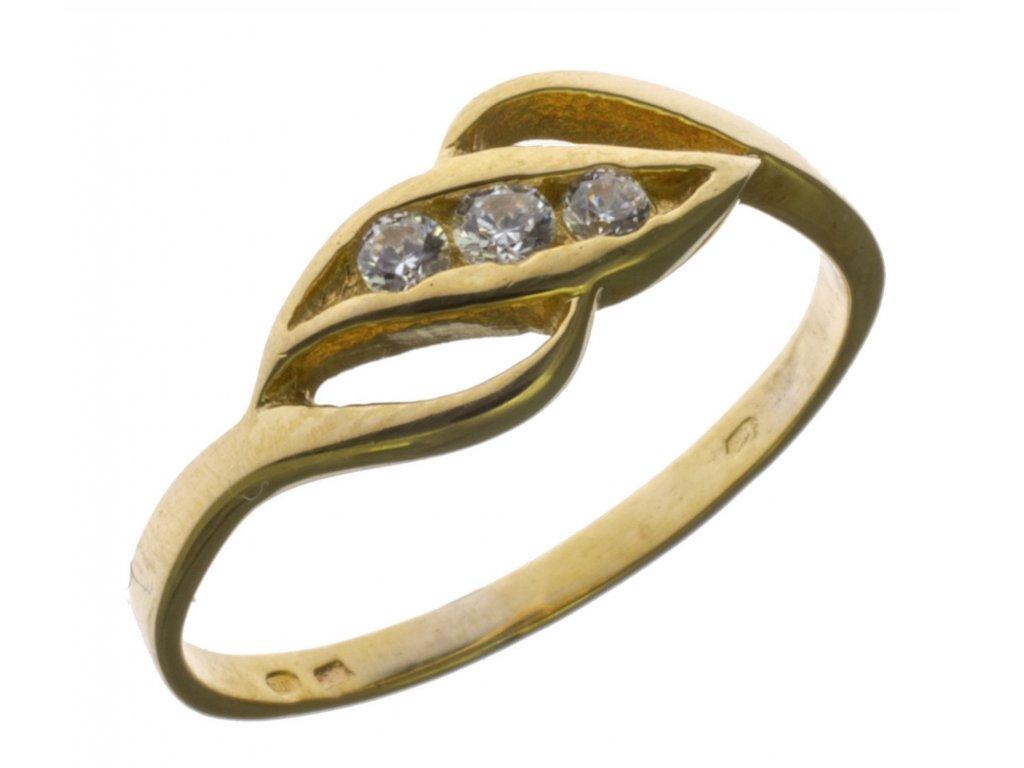Prsten ze žlutého zlata G697