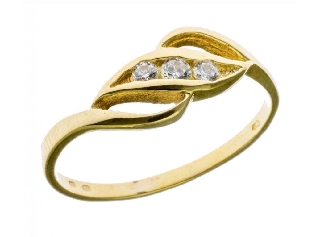 Prsten ze žlutého zlata G698
