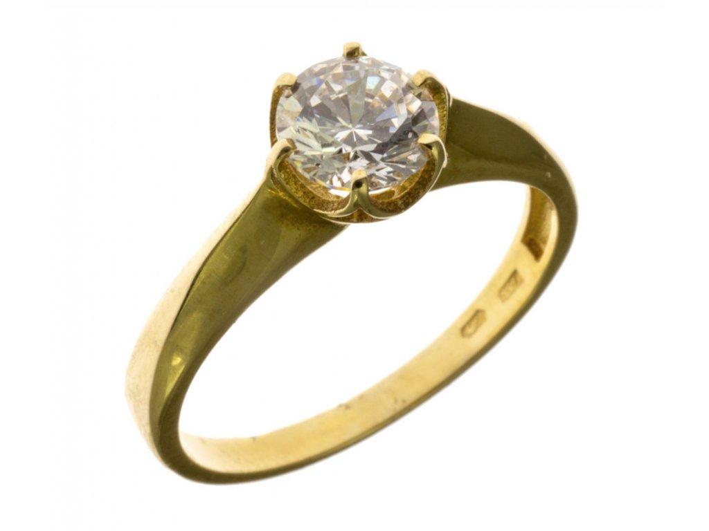 Prsten ze žlutého zlata G383
