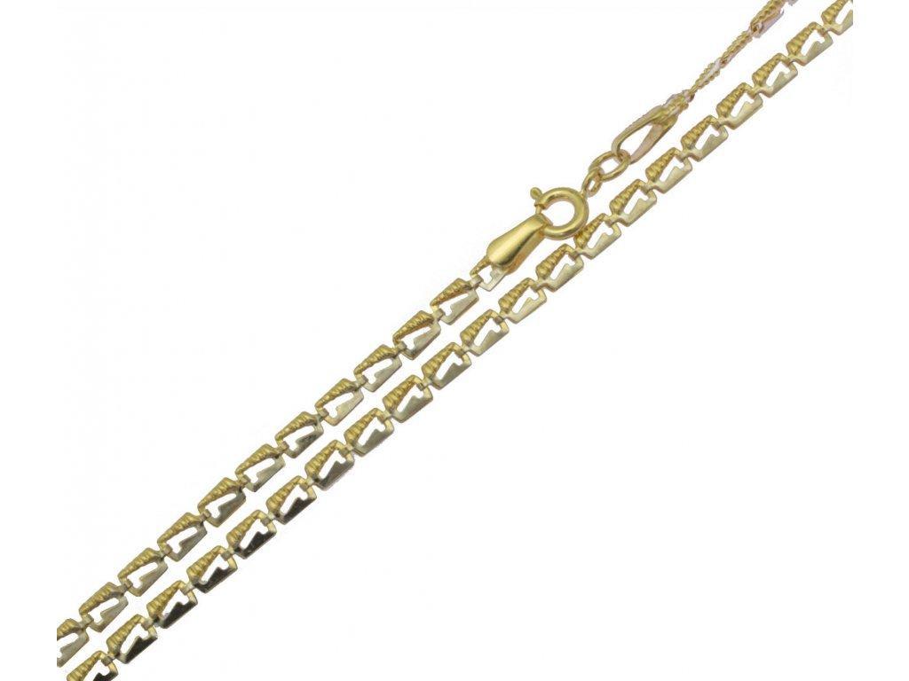 Zlatý řetízek žiletka D921