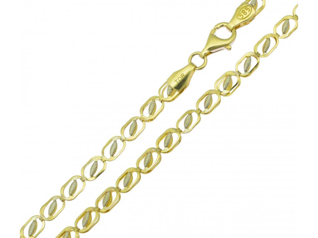 Řetízek ze žlutého zlata K098