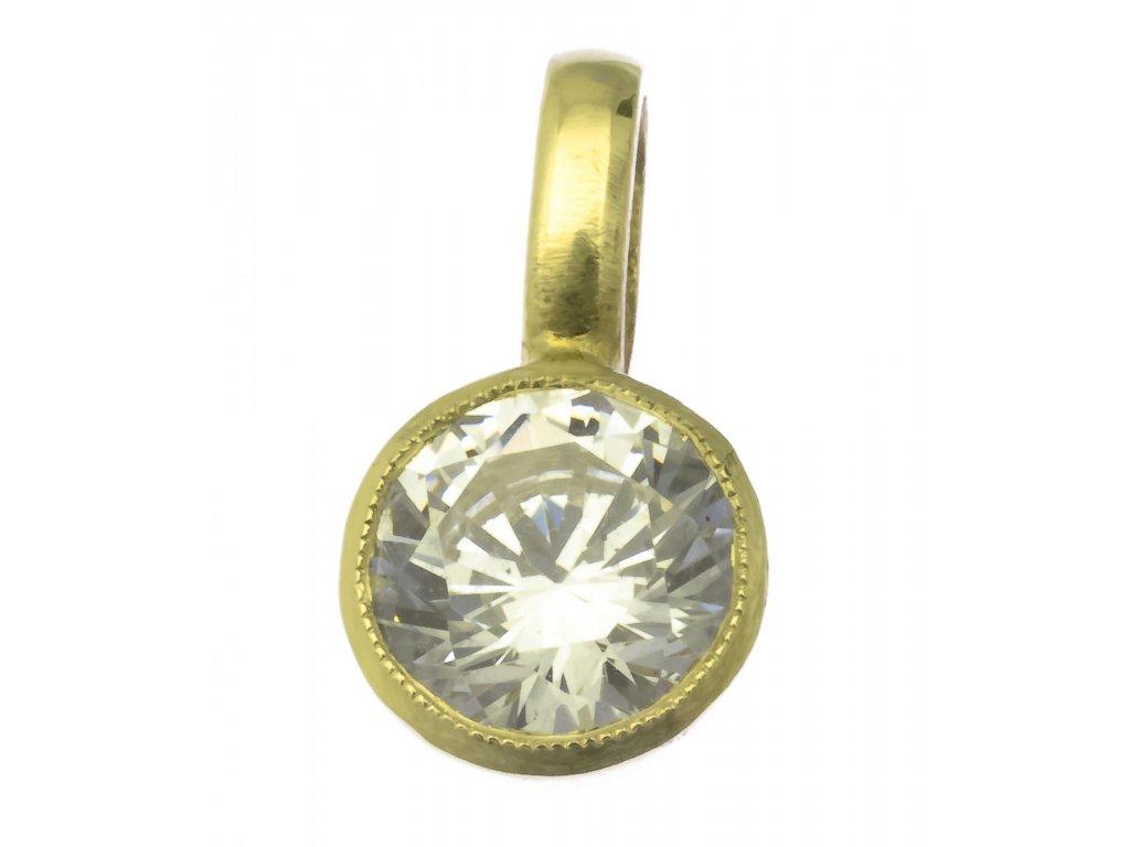 Přívěsek ze žlutého zlata H724