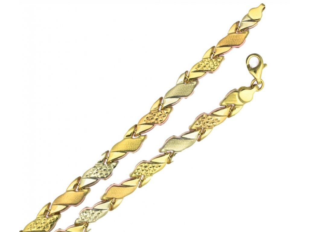 Zlatý náramek D386