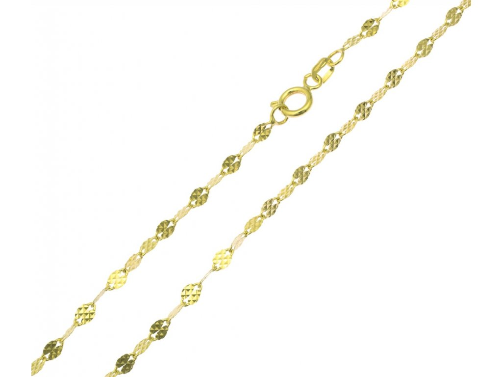Zlatý řetízek ozdobný D906