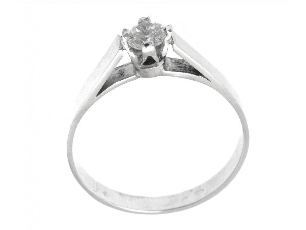 Prsten z bílého zlata se zirkony G773