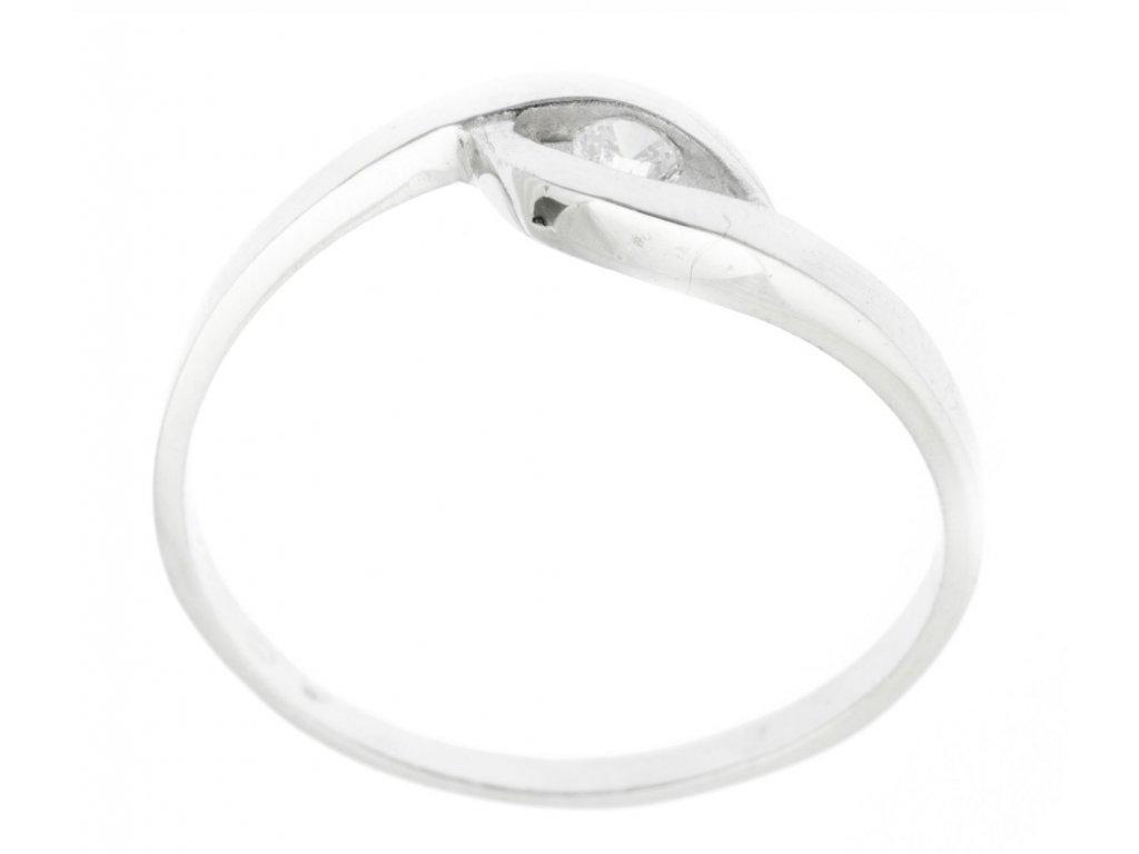 Prsten z bílého zlata se zirkony G770