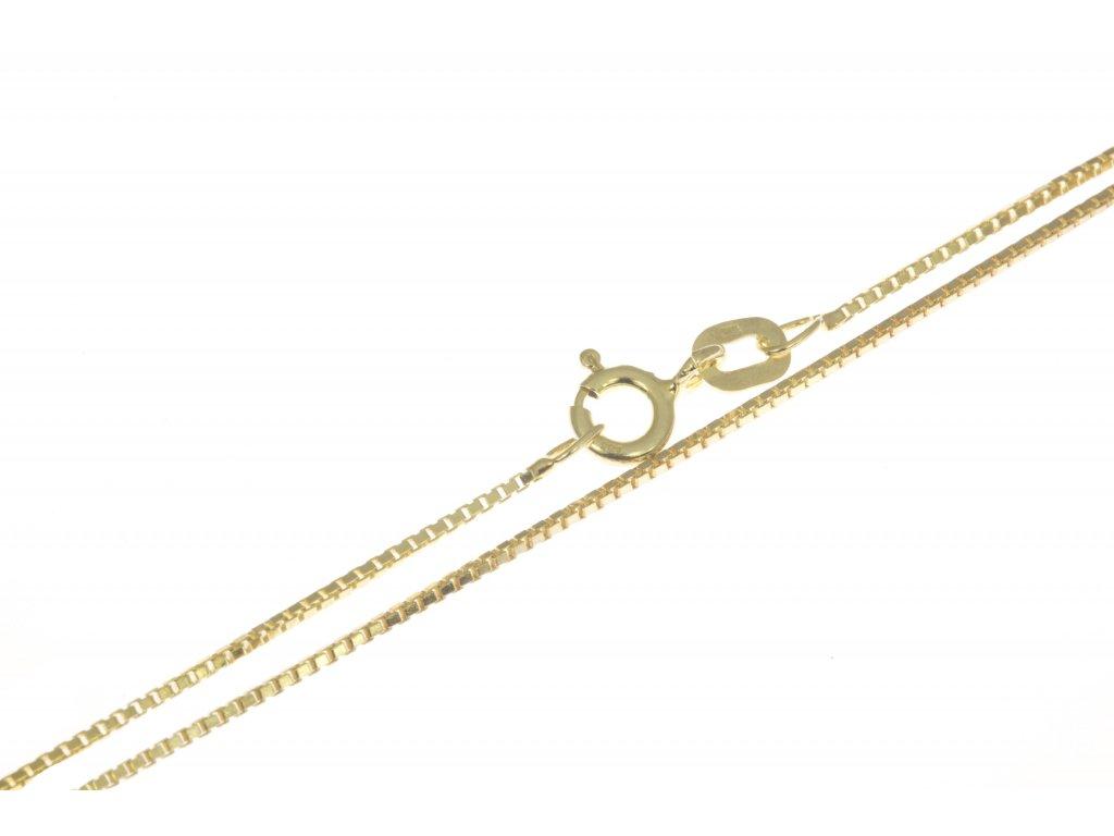 Zlatý řetízek D629b
