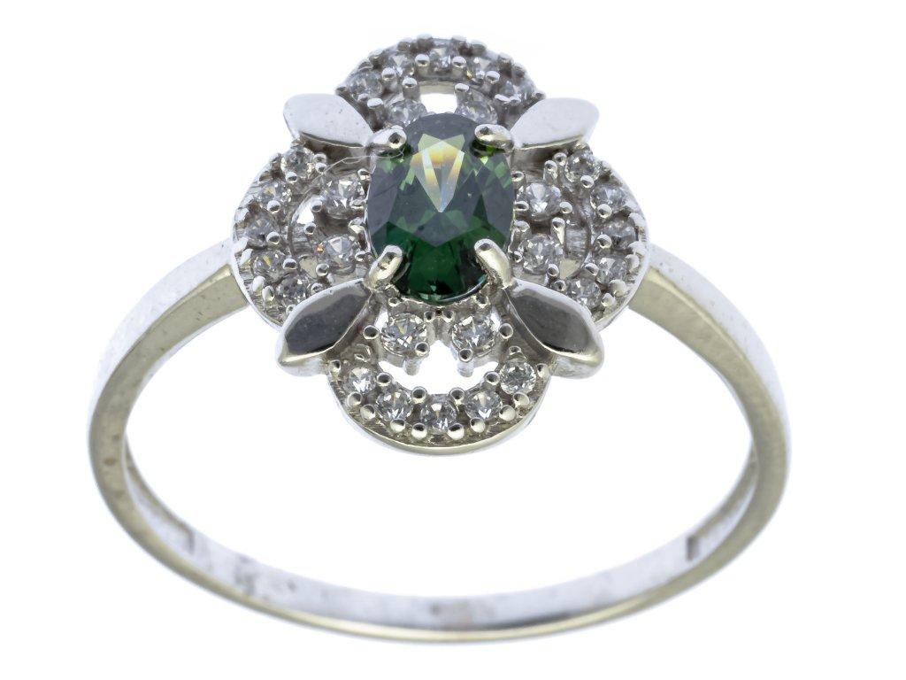Prsten z bílého zlata G707