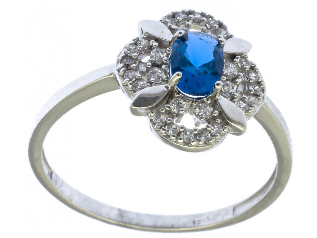 Prsten z bílého zlata G708