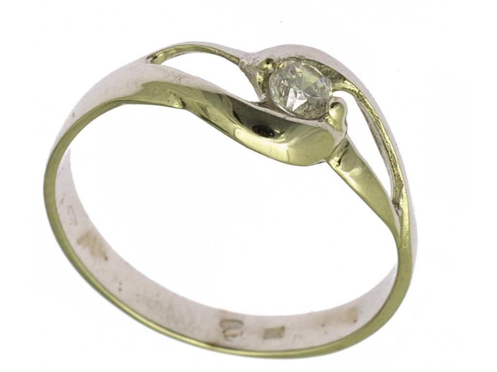 Prsten z bílého zlata G687