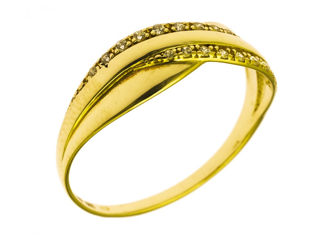 Prsten ze žlutého zlata G777