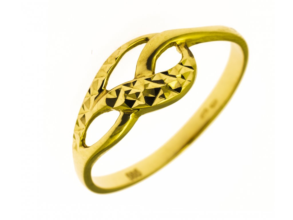 Prsten ze žlutého zlata G819