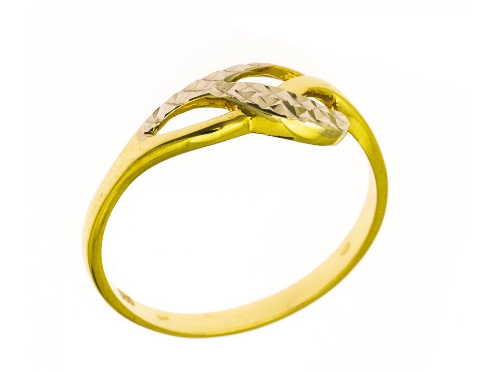 Prsten ze žlutého zlata G820