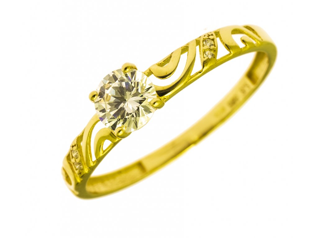 Prsten ze žlutého zlata G781