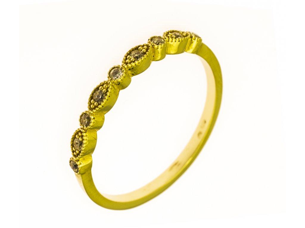 Prsten ze žlutého zlata G827