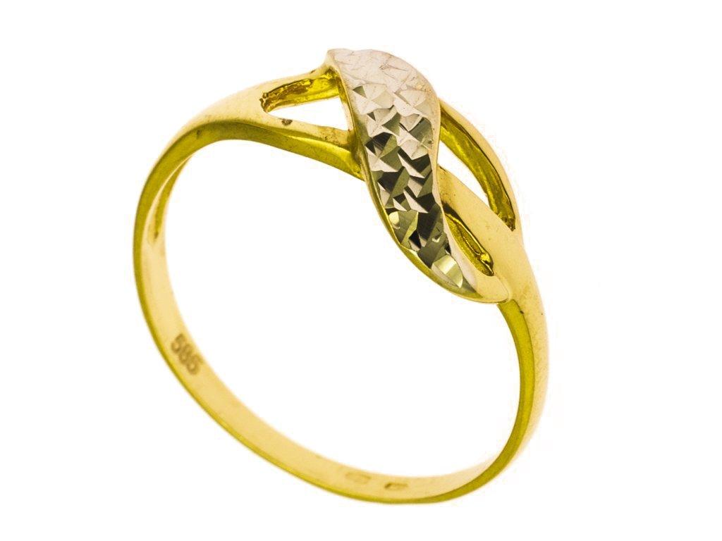 prsten ze zluteho zlata g818