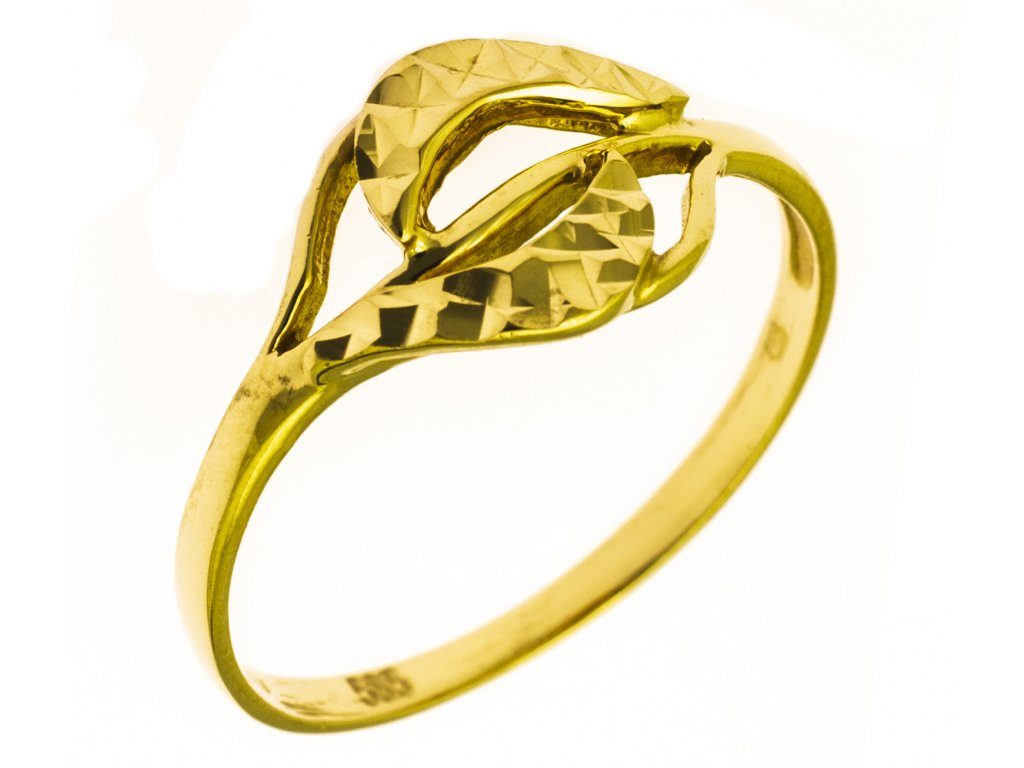 Prsten ze žlutého zlata G821
