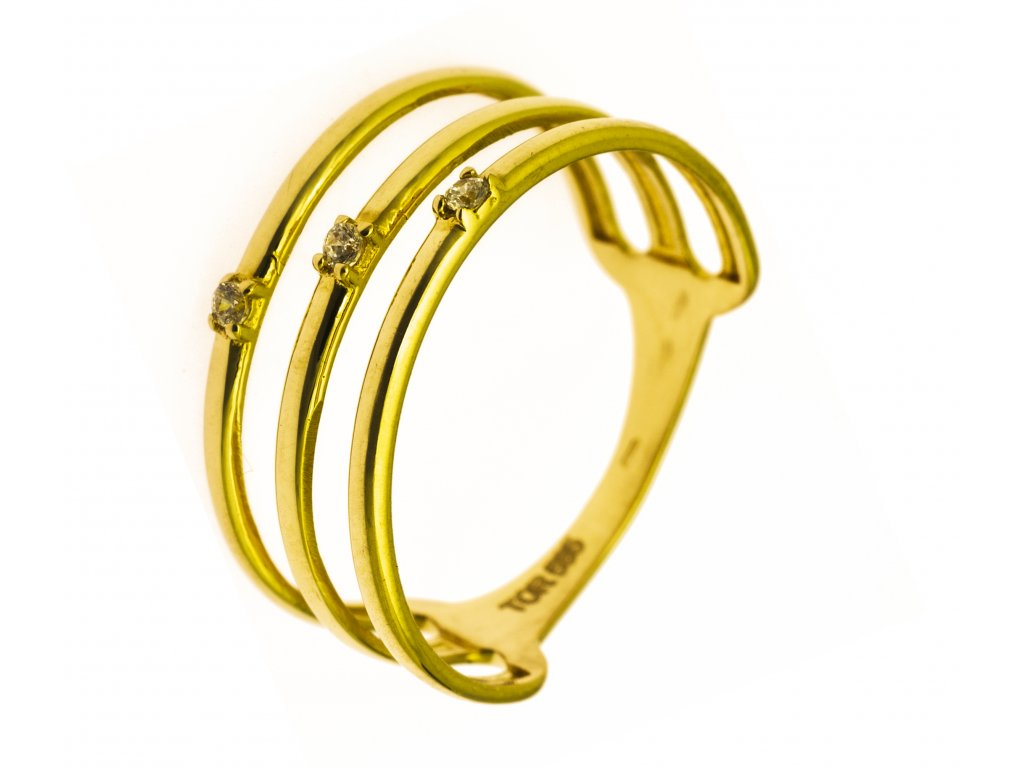 Prsten ze žlutého zlata G834