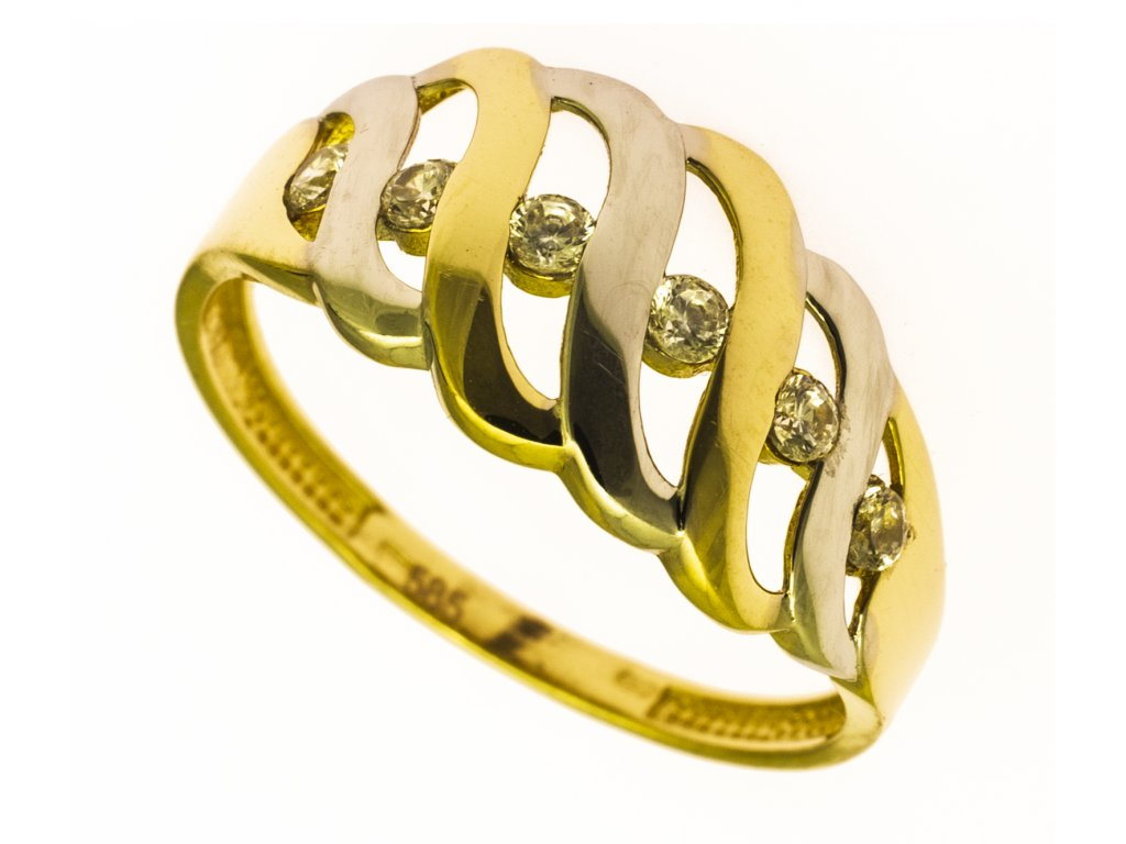 Prsten ze žlutého zlata G826