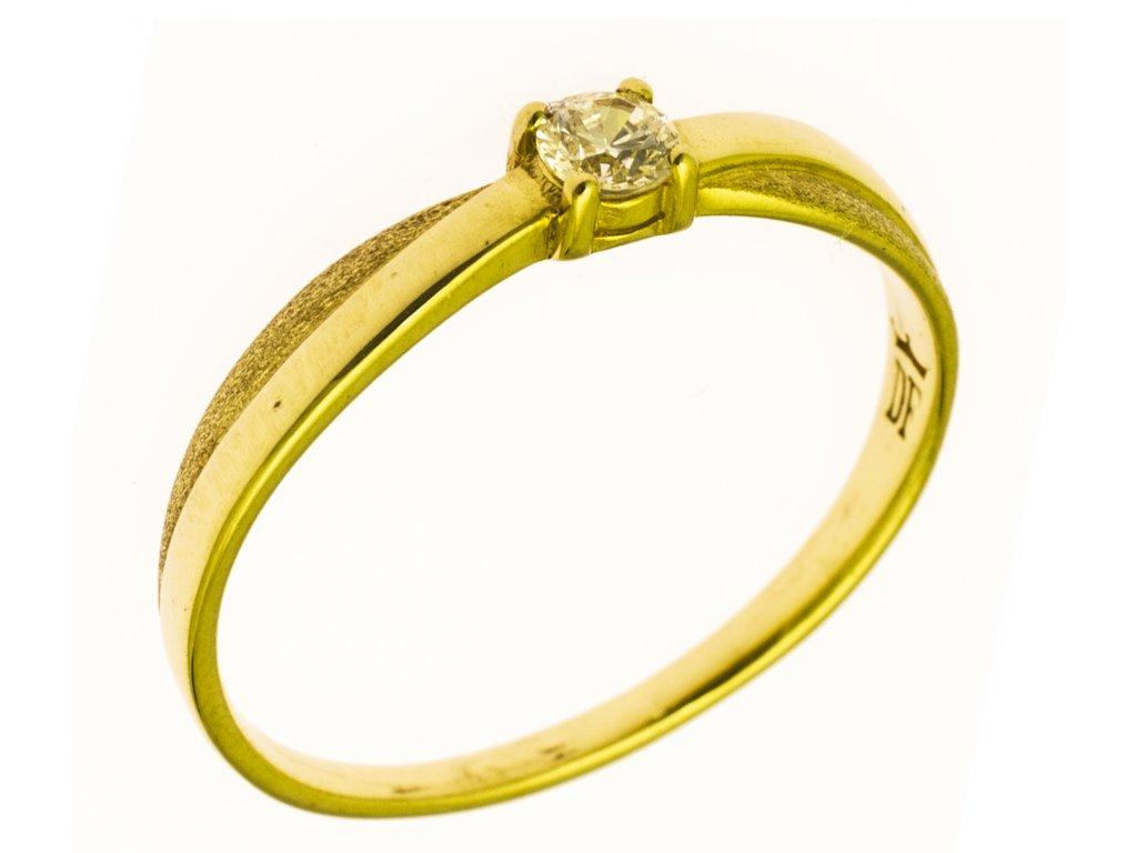 Prsten ze žlutého zlata G701