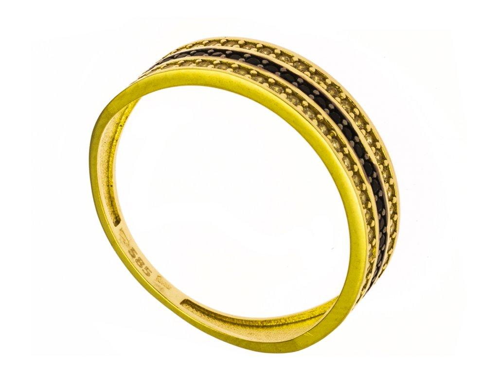 Prsten ze žlutého zlata G865