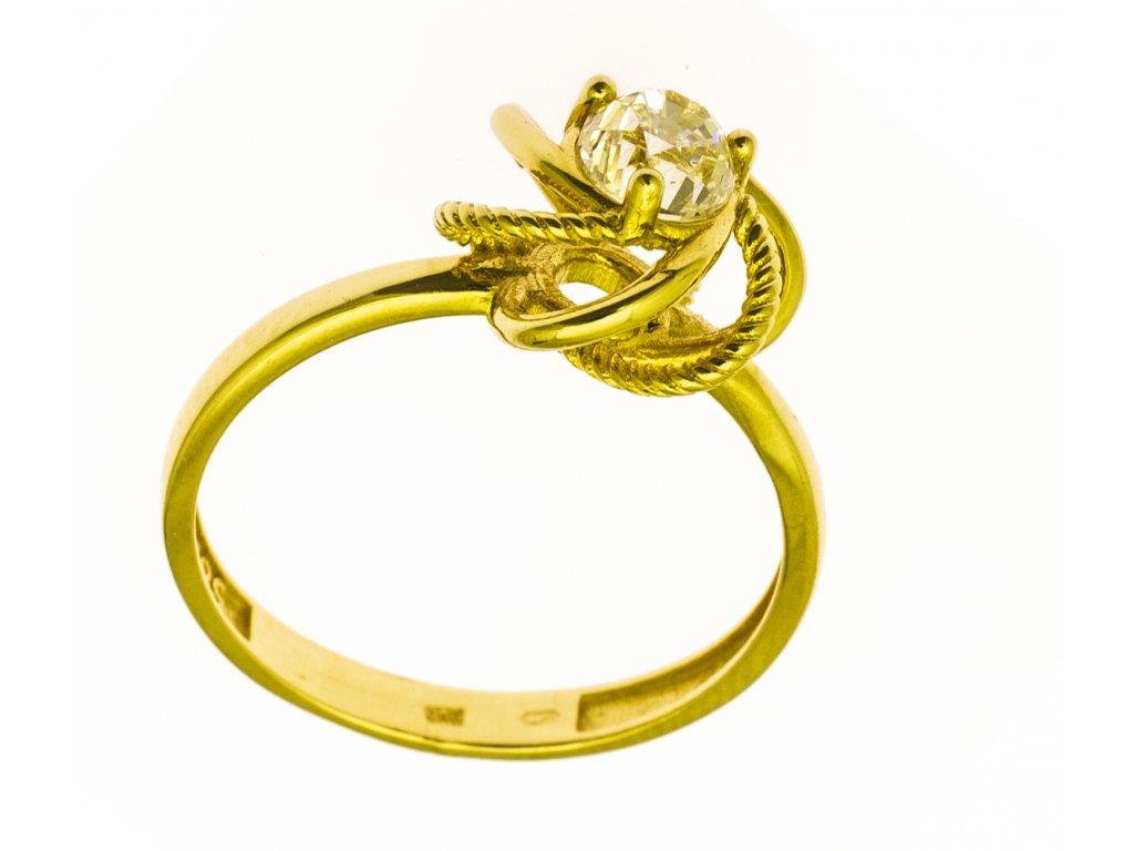 Prsten ze žlutého zlata G856