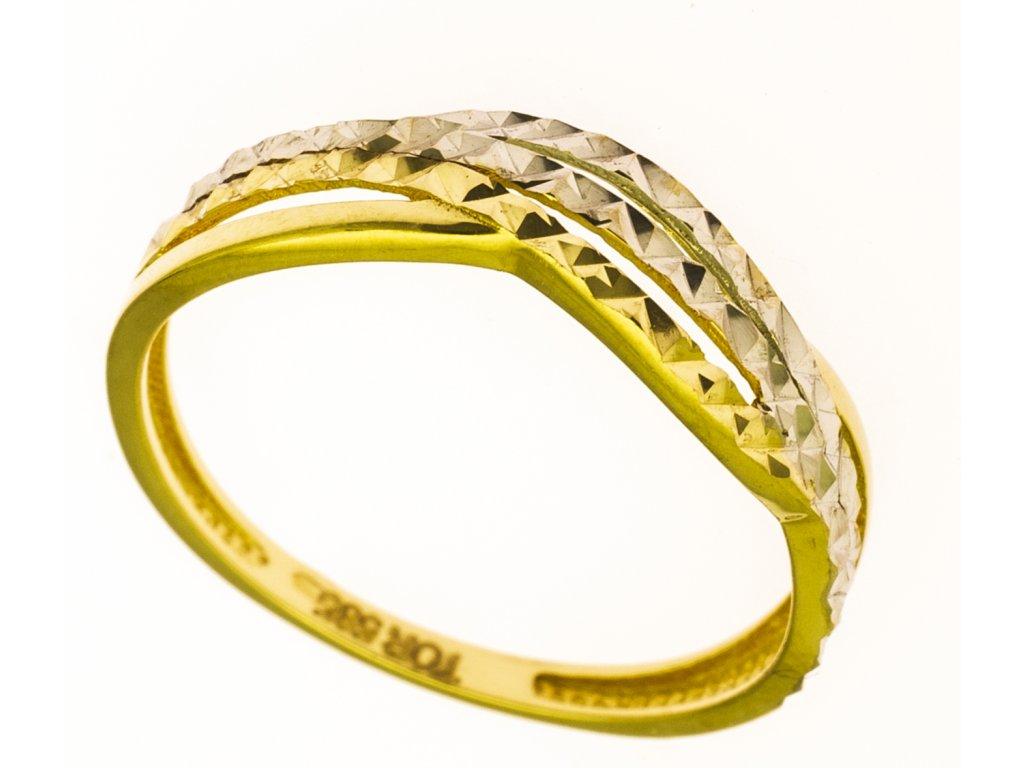 Prsten ze žlutého zlata G832