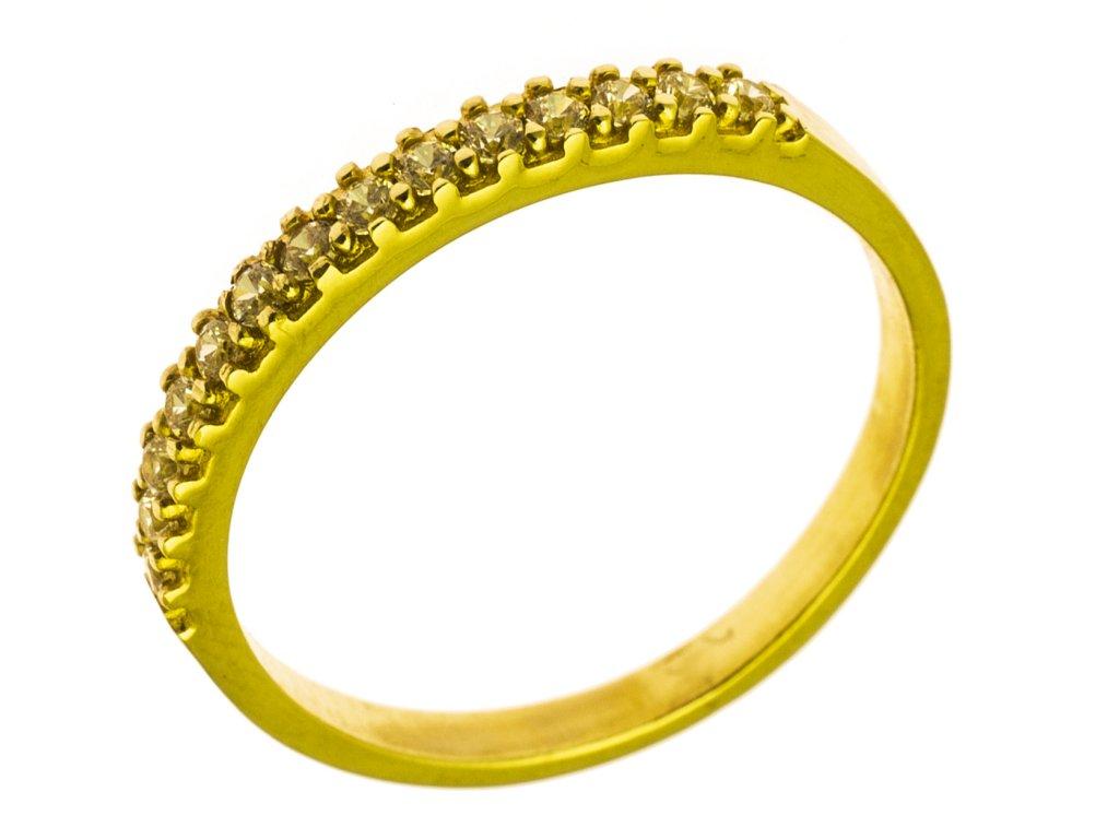 Prsten ze žlutého zlata G791