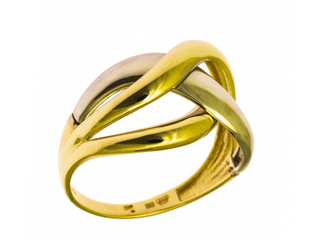 Prsten ze žlutého zlata G864