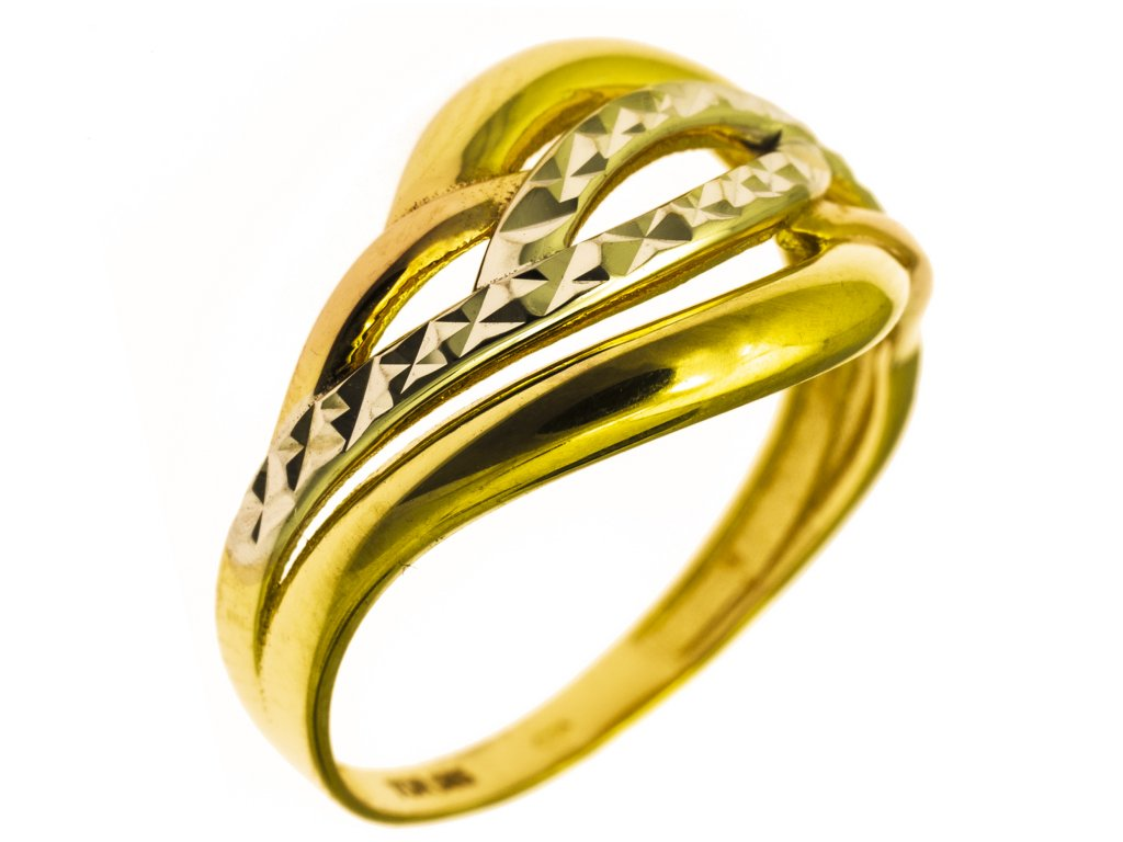 Prsten ze žlutého zlata G838