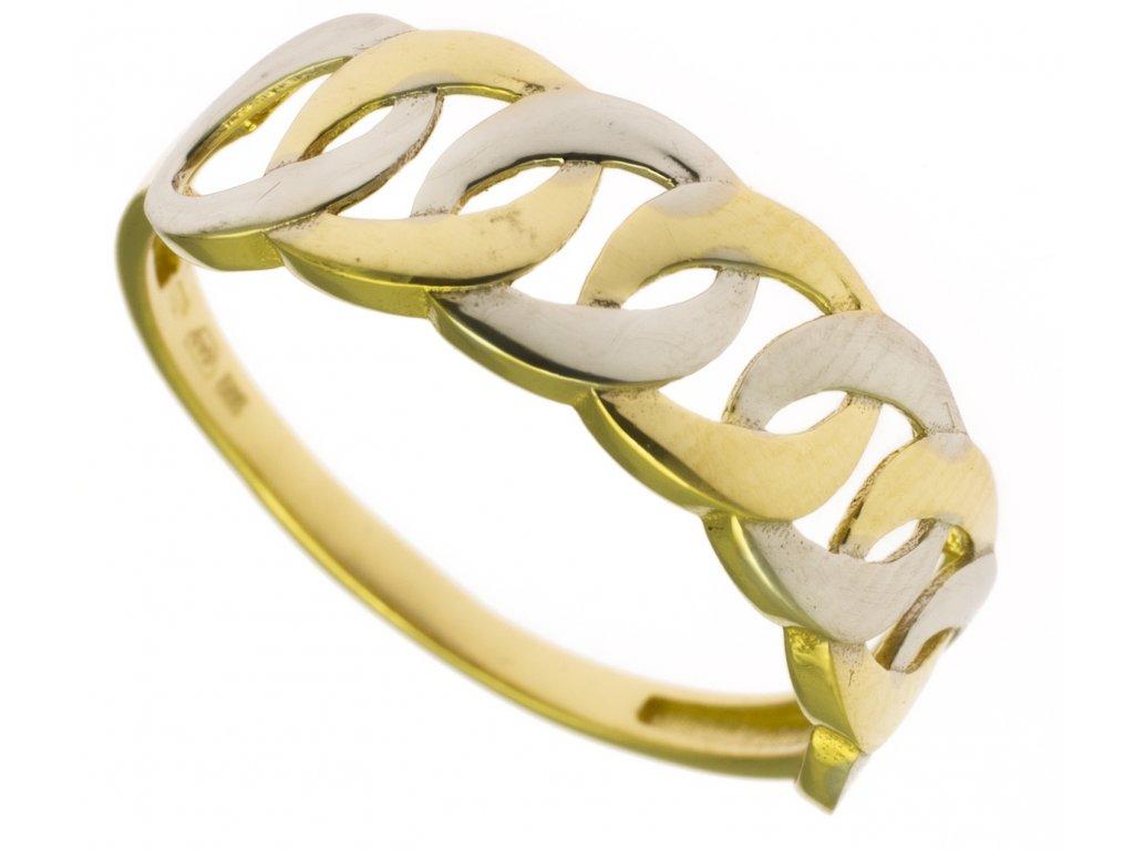 Prsten ze žlutého zlata G861