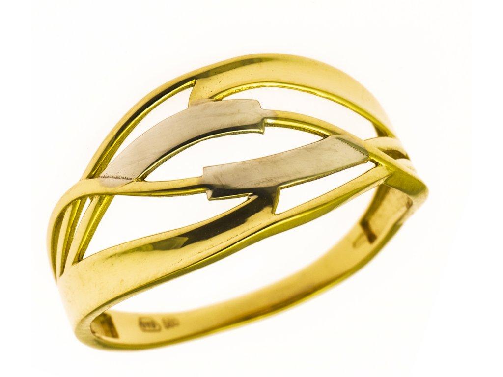 Prsten ze žlutého zlata G862
