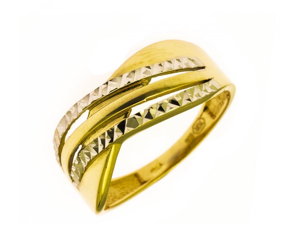 Prsten ze žlutého zlata G840
