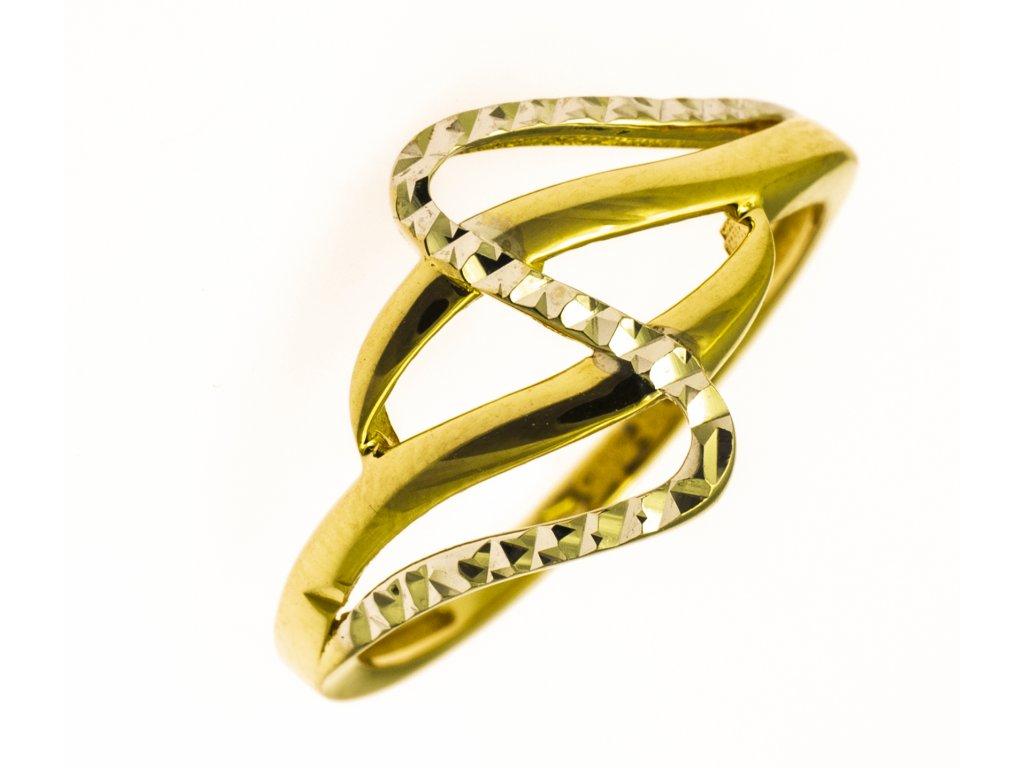 Prsten ze žlutého zlata G839