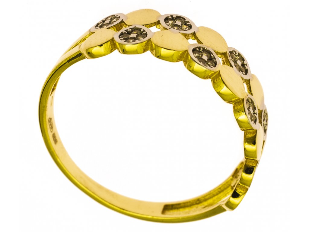 Prsten ze žlutého zlata G858